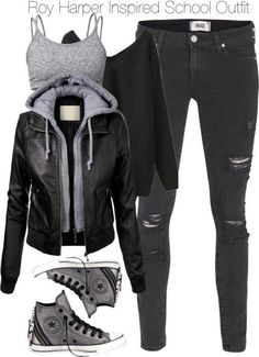 winter outfits for school & winter outfits . winter outfits for work . winter outfits for school . winter outfits for going out . Batman Outfits, Teenage Outfits, Teen Fashion Outfits, Outfits For Teens, Girl Outfits, Fashion Ideas, Fashion Trends, Cute Casual Outfits, Edgy Outfits