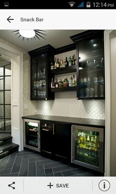 Snack Bar Transitional Home Bar