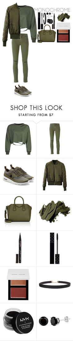 """Untitled #369"" by dutchfashionlover ❤ liked on Polyvore featuring WithChic, J Brand, NIKE, Givenchy, Bobbi Brown Cosmetics, Smith & Cult, Gucci, Humble Chic, NYX and Umbra"