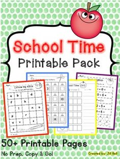 This pack is filled with a variety of math and literacy printable activities perfect for kindergarten or the beginning of grade one. No prep required.. just copy and go!