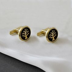 """Silver cufflinks """"Tree of life in color"""" Silver Charms, Silver Earrings, Silver Ring, Men Accesories, Accessories, Cookie Display, Color Of Life, Tree Of Life, Cufflinks"""