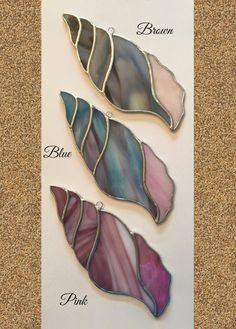 Handmade Stained Glass Large Seashell Suncatcher by QTSG on Etsy