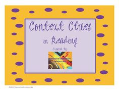Context Clues in Reading!