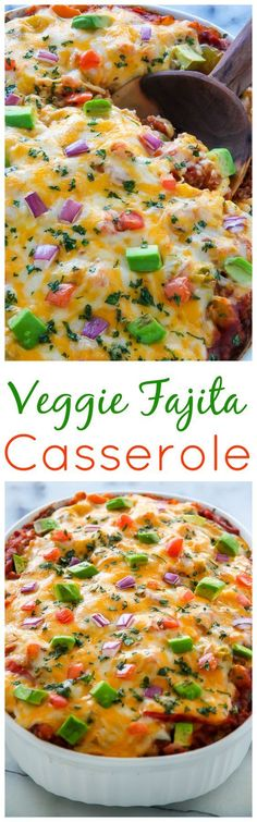 This easy, cheesy veggie fajita casserole is ready in just 45 minutes! Bonus: the leftovers are even MORE delicious the next day. Hello! We're barely a week int