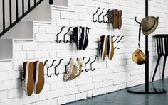 Little Life Savers: Clever IKEA Hacks for Small Spaces Towel racks for shoe storage Entryway Shoe Storage, Ikea Storage, Small Storage, Garage Storage, Garage Entryway, Wall Shoe Storage, Bedroom Storage, Shoe Storage Ideas For Small Spaces, Ikea Entryway
