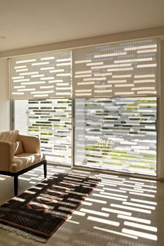 Modern Blinds on modern residential house design