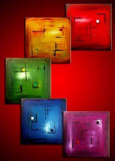 """Pentatonic+Rainbow""+-+Original+Abstract+Art+by+Lena+Karpinsky,+http://www.artbylena.com/original-painting/181/pentatonic-rainbow.html"