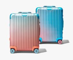 the limited edition suitcases feature vibrant gradients inspired by the artist's sky backdrop paintings.The post alex israel reveals color gradient collaboration for RIMOWA appeared first on designboom Luxury Luggage, Luggage Brands, Alexandre Arnault, Frieze Art Fair, Trolley Case, Multimedia Artist, Medical Design, Next Week, Gradient Color