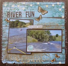 Layout By Kelly-ann Oosterbeek made using the Coastal Escape Collection from Kaisercraft. www.amothersart.com.au