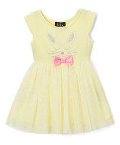 Yellow Bunny A-Line Dress - Infant & Toddler #zulily #zulilyfinds