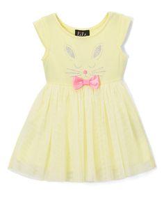 Yellow Bunny A-Line Dress - Infant & Toddler #zulily #zulilyfinds