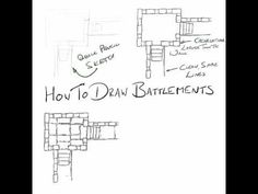 Castles are a key feature of fantasy roleplaying games. This is how I draw a castle wall for use in a tactical scale battle map. Castle Wall, Fantasy Map, Cartography, Dungeons And Dragons, Castles, Maps, Scale, Gaming, Tutorials