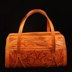1950's Tooled Leather Handbag