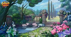 Environments for Knight&Brides game on Behance