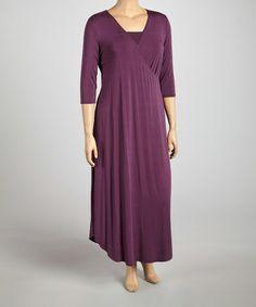 8d152f902b3 KIYONNA Vintage Purple The All Hours Convertible Surplice Maxi Dress - Plus.  Zulily Plus SizeConvertiblePlus ...