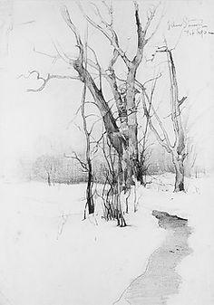 William Sommer, graphite on paper, 1890