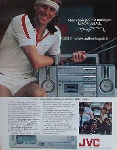PUBLICITE-JVC-LA-PC-5-CHAINE-HI-FI-PLATINE-BJORN-BORG-DE-1983-FRENCH-AD