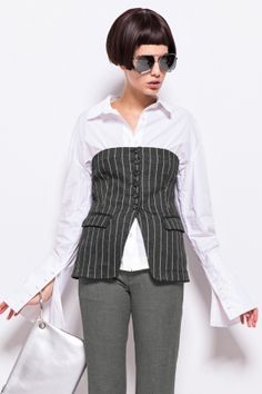 FrontRowShop: Search For Pinstripe top
