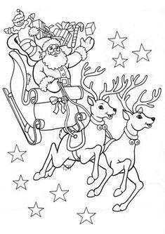 Santa Coloring Pages, Tree Coloring Page, Coloring Pages For Kids, Colouring Pages, Free Coloring, Coloring Books, Christmas Coloring Sheets, Printable Christmas Coloring Pages, Christmas Colors