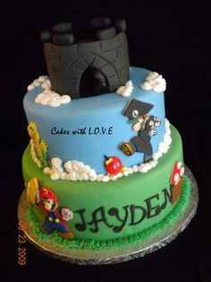 Mario Graduation Cake