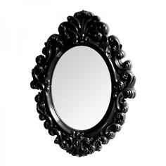Espelho Rococó Preto - 51 x 38 x 3 cm