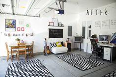 Garage studio makeover