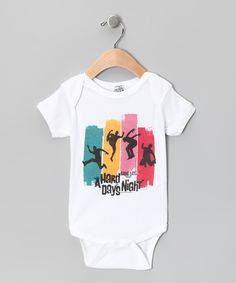 White 'A Hard Day's Night' Silhouettes Bodysuit - Infant