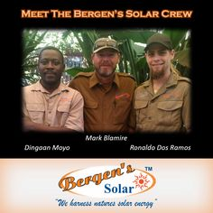 Meet the Bergen's Solar Crew.  #weharnessnaturessolarenergy #bergenssolar #solar #southafrica #loadshedding #bergens #solarpower #energy #gogreen  Follow us on Instagram and Pinterest Contact:  073 556 0073 Email:  mark@bergens.co.za
