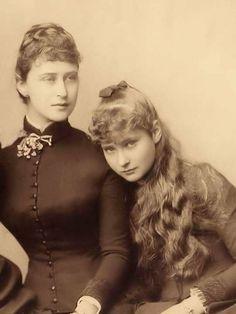 Princess Alix of Hesse with her sister Princess Elisabeth