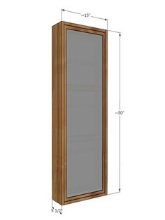 Ana White Build a Full Length Mirror Sliding Beauty Storage Cabinet Free and Easy DIY Project and Furniture Plans