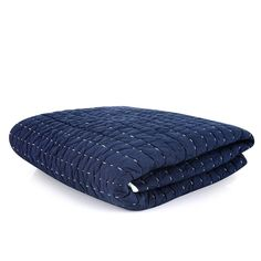 Check out our new navy stitch throw. Smart yet servicable bedding for kids..... made smarter with the hand-sewn contrast stitching. LOVE