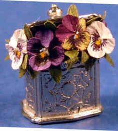 Ed Sims, IGMA Fellow - Flower arrangement - Pansies in a biscuit barrel (small)