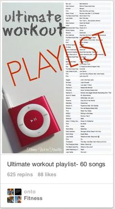 Ultimate Workout Playlist- 60 songs via Honey We're Healthy