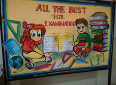 Art ,Craft ideas and bulletin boards for elementary schools: All the best for Exams Bulletin Board