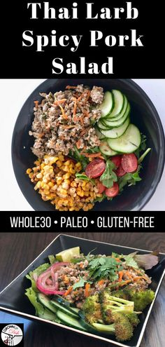 This healthy Thai Larb Spicy Pork salad is bursting with Thai flavor from the chili peppers and fresh herbs. It's paleo, keto and compliant. Paleo Whole 30, Whole 30 Recipes, Pork Recipes, Paleo Recipes, Asian Recipes, Easy Recipes, Lunch Recipes, Summer Recipes, Free Recipes