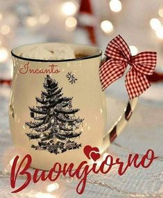 Italian Greetings, Italian Memes, Days And Months, Christmas Time, Good Morning, Mugs, Instagram Posts, Gifts, Smile