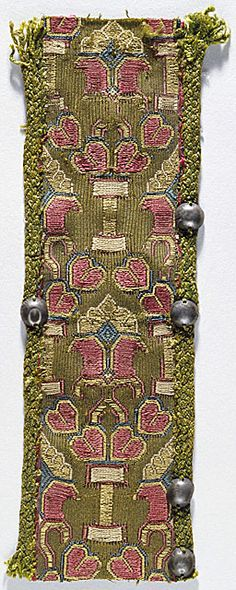 Woven Ribbon with gold metallic threads - Anglo-Saxon - 9th Century