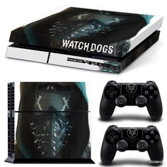 PS4 Playstation 4 Console Skin Decal Sticker Watch Dogs 2 + Controller Skins Set #ZoomHit