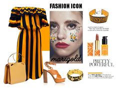 """""""Stay Golden: a touch of marigold"""" by libelle-noveli ❤ liked on Polyvore featuring In Your Dreams, Gideon Oberson, Chloé, Tory Burch, Ole Henriksen, Roksanda and marigold"""