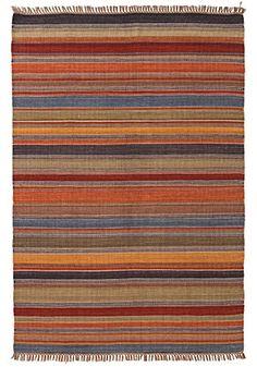 Ooty Stripe Indian Kilim Rug 120 x 180cm