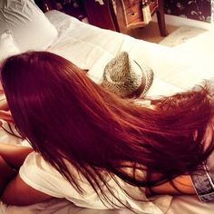 Long red hair <3 I want my hair to be this long!