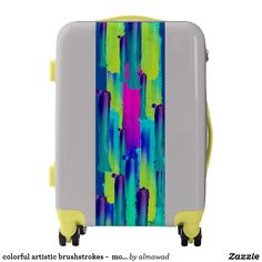 colorful artistic brushstrokes -  modern luggage