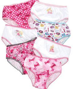 Barbie Girls  or Little Girls  7-Pack Cotton Panties Kids - Macy s 9a071415e