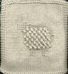 Free Knitting Pattern - Dishclothes & Washcloths : Bobbles the Sheep Cloth