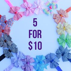 You pick five 2.00 each chevron headband headband by BowsforLittle