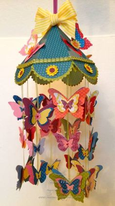 Butterfly Mobile by shargod - Cards and Paper Crafts at Splitcoaststampers, amazing!