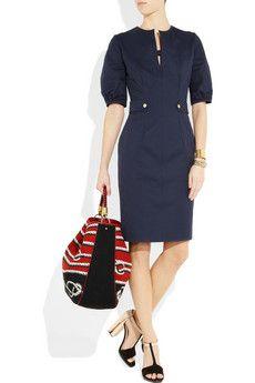 YVES SAINT LAURENT  Cotton-gabardine dress - Beautifully Tailored!