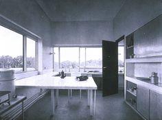 Le Corbusier... Villa Savoye, Interior Kitchen, Poissy, France...1928-31