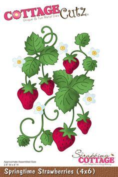 CottageCutz Springtime Strawberries (4x6) PRE-ORDER