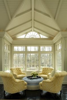 chair, seating arrangements, window, sitting rooms, vaulted ceilings, sitting areas, seating areas, design, sunroom